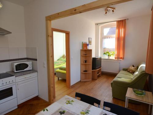 Ein Sitzbereich in der Unterkunft Apartment Grünbach 2