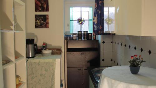 Kuchyň nebo kuchyňský kout v ubytování LebensART