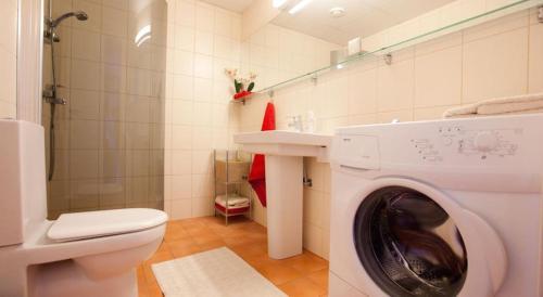 A bathroom at Volta Apartments Lootsi