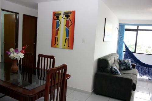 A seating area at Apartamento Green Park