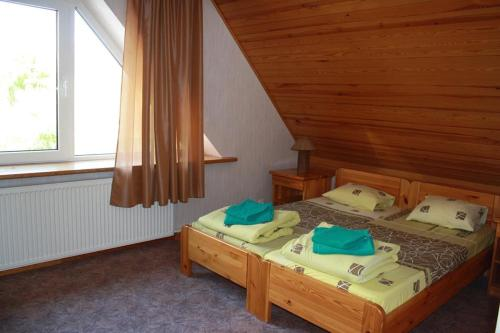 A bed or beds in a room at Zīriņi