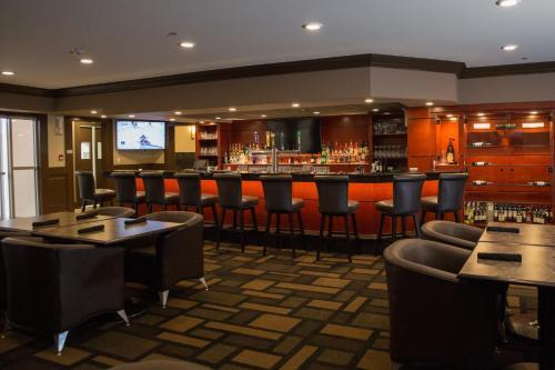 The lounge or bar area at Chateau Nova Peace River