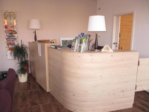 Lobby/Rezeption in der Unterkunft Hotel Bleske im Spreewald