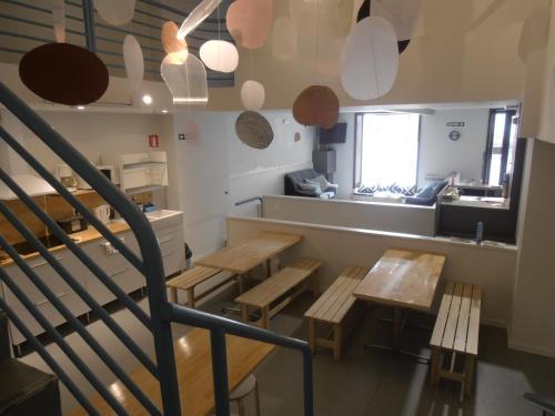 Un restaurante o sitio para comer en Albergue Plaza Catedral