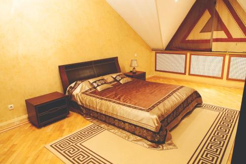 Кровать или кровати в номере Гостиница АльГрадо