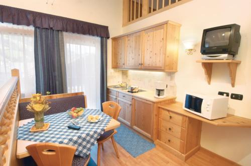Küche/Küchenzeile in der Unterkunft Residence Pizzeria Priska