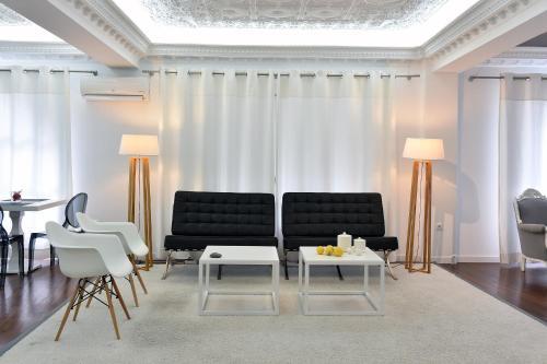 A seating area at Apollon Boutique Hotel