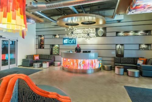 The lobby or reception area at Aloft Greenville Downtown