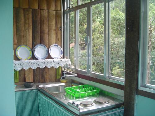A cozinha ou cozinha compacta de Casa Dell Angelo Apartamentos