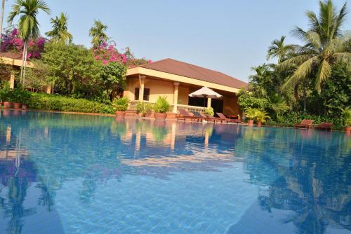 The swimming pool at or near Angkor Hotel