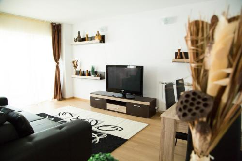 A television and/or entertainment center at A Place Like Home