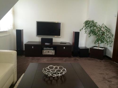 Telewizja i/lub zestaw kina domowego w obiekcie Apartment A'la Karol