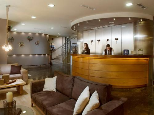 The lobby or reception area at Acropolis Select