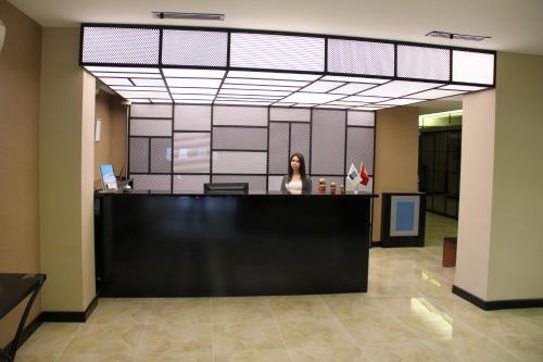 The lobby or reception area at Airport Residence