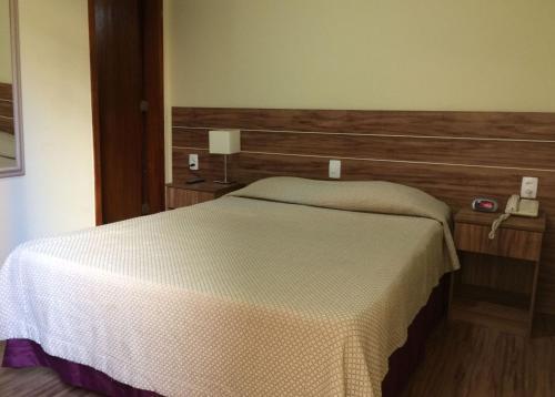 Cama ou camas em um quarto em Hotel Americano