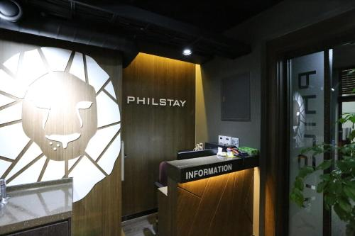 The lobby or reception area at Philstay Myeongdong Boutique Female