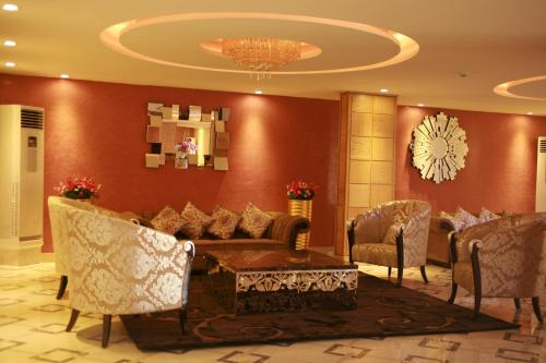 The lobby or reception area at Crown Hotel Juba