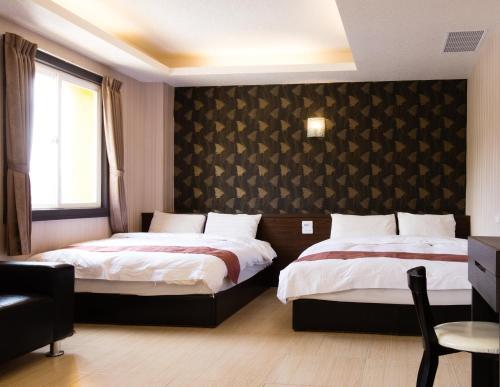 大尖山飯店房間的床