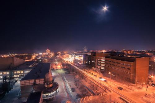 Общий вид на город Петрозаводск или вид на город из апартаментов/квартиры