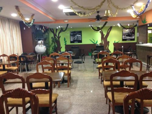 A restaurant or other place to eat at Ciudad de Alcala