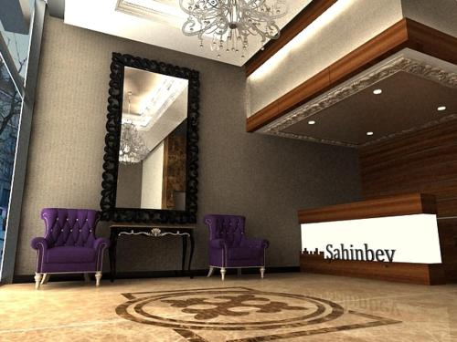 The lobby or reception area at Sahinbey Hotel