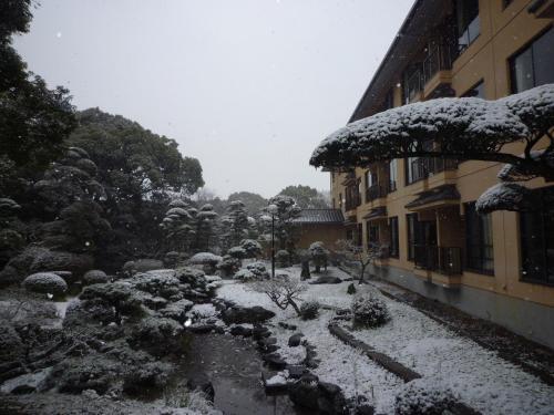 Yanagawa Hakuryuso during the winter