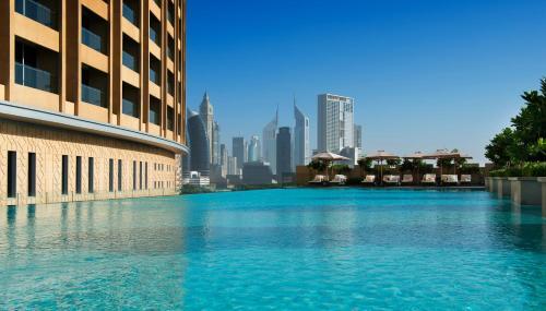The swimming pool at or near Address Dubai Mall