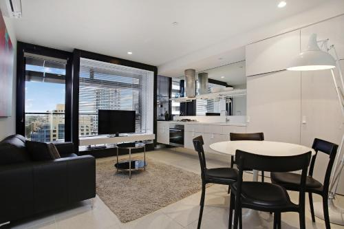 A seating area at Corporate Keys - Lilli Apartments
