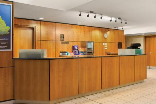 The lobby or reception area at Days Inn Stevenage North