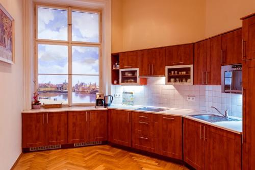 A kitchen or kitchenette at Apartment Vodičkova 11