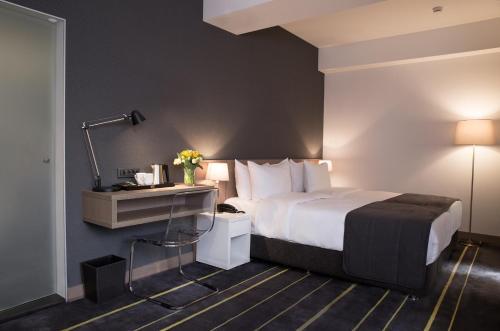 Cama o camas de una habitación en Nova Hotel Yerevan