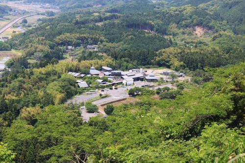 A bird's-eye view of Yamaga Onsen Kazenosato