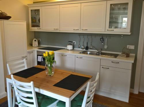 Küche/Küchenzeile in der Unterkunft Apartment Schreyegg