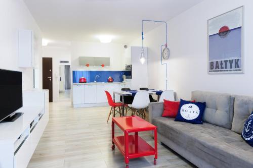 Część wypoczynkowa w obiekcie Apartamenty Mapio w Kołobrzegu