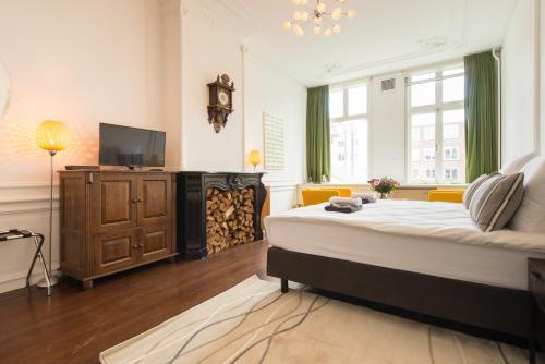 Een bed of bedden in een kamer bij Keizers BnB