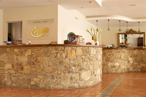 The lobby or reception area at Erofili Beach Hotel
