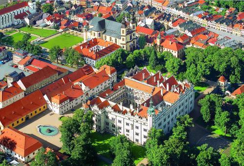A bird's-eye view of Zámecké apartmány Litomyšl