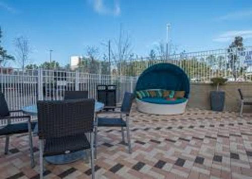 A porch or other outdoor area at Hampton Inn Greenville/I-385 Haywood Mall, SC