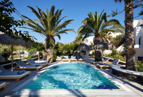 Het zwembad bij of vlak bij Hermes Hotel