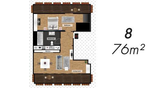 Grundriss der Unterkunft The Queen Luxury Apartments - Villa Fiorita