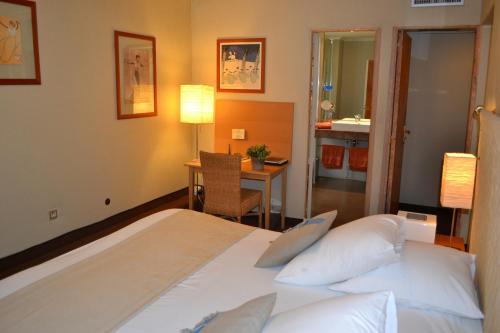 Cama o camas de una habitación en Saint Ferréol