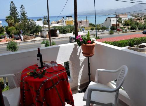 Ein Balkon oder eine Terrasse in der Unterkunft Villa Flouri
