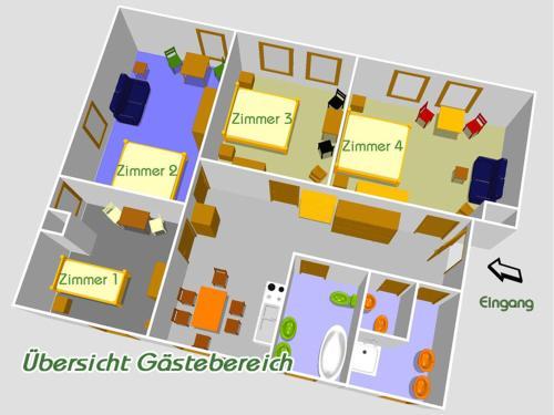 Grundriss der Unterkunft Haus Elbtalaue