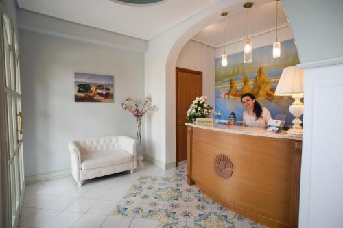 The lobby or reception area at Azienda Agrituristica Vivi Natura