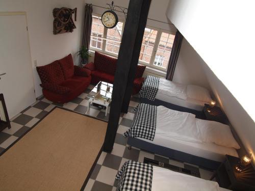 Ein Bett oder Betten in einem Zimmer der Unterkunft amazing historical appartment