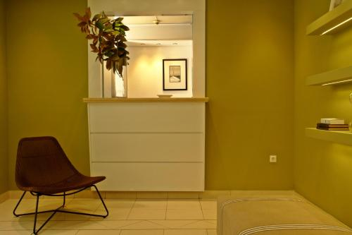 The lobby or reception area at Semeli Hotel