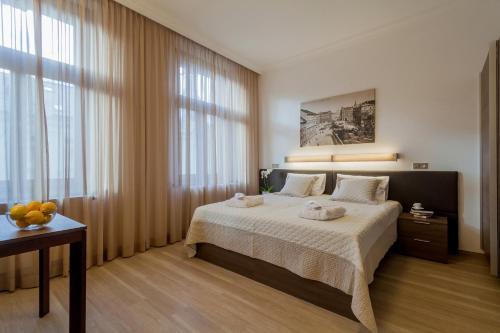 Letto o letti in una camera di Vinohradsky dum
