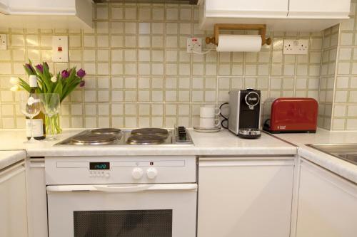 A kitchen or kitchenette at Tower Bridge Apartment