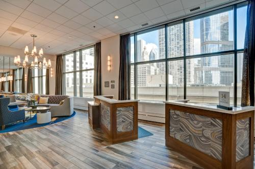 The lobby or reception area at Homewood Suites by Hilton Chicago-Downtown