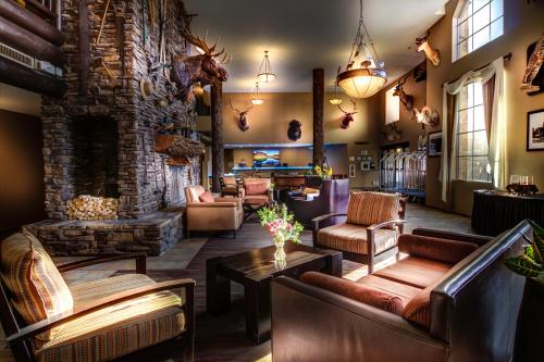The lobby or reception area at The Grand Hotel at the Grand Canyon